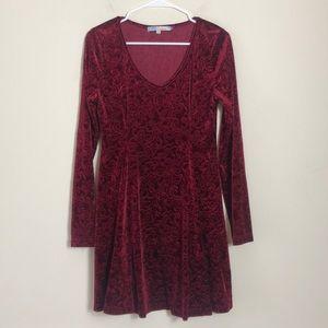 Cecico Red Velour Dress